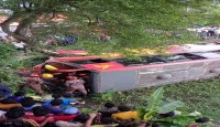 মাগুরায় বাস দূর্ঘটনায় নিহত-২; আহত অর্ধশতাধিক